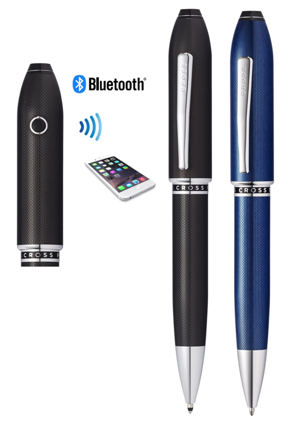 This Article is about the SMART TRACK ABLE PEN. Cross Peerless Tracker Ballpoint Pen can track any time with its tracking app. it also has bluetooth and Camera.
