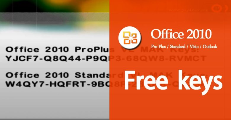 How to activate MS Office 2010 Product Key for Windows