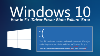 Photo of How to Fix Driver Power State Failure in Windows 10