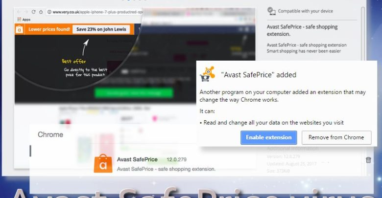 enable avast extension in chrome