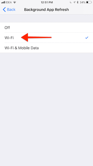 IOS 11 Disable Background App Refresh Cellular 4