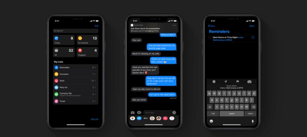 iOS 13 New Reminders App