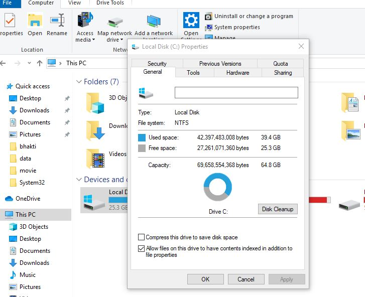 Disable compress your OS installed drive