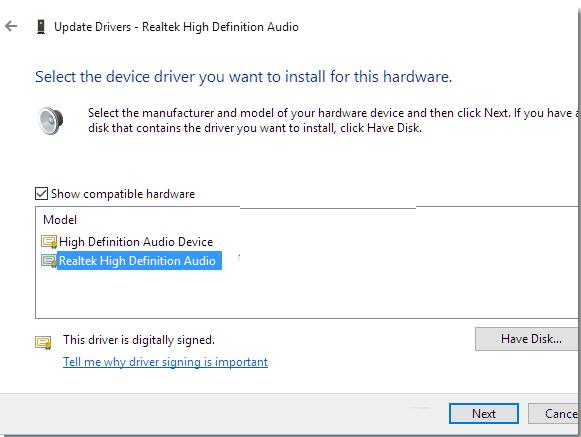 install realtek audio driver