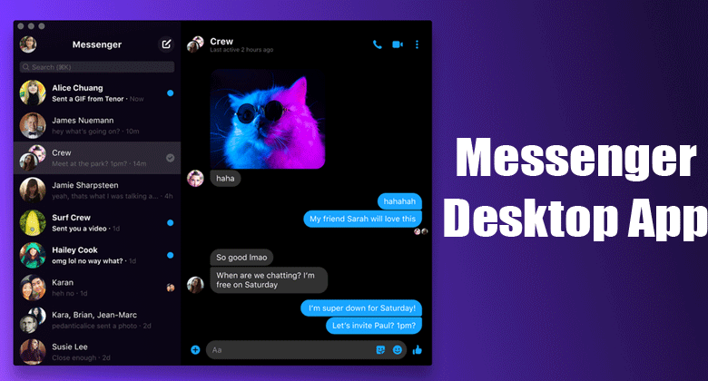 Messenger desktop app