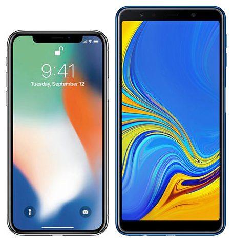 iphone-x-oder-samsung-galaxy-a7-